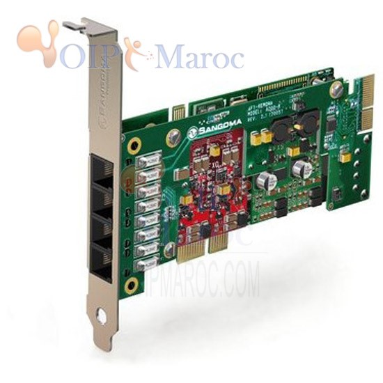 Carte Analogiue PCIe 4 Port FXO/FXS A200P
